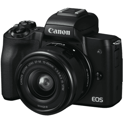 Canon - EOS M50 Camera Body with EFM15-45mm f/3.5-6.3 IS STM Camera Lens
